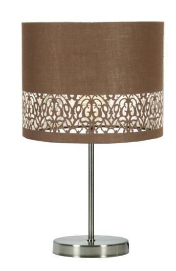 Lampa Stołowa Gabinetowa Candellux Arabesca 41-19533 E27 Brązowy