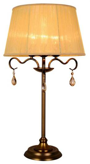 Lampa Stołowa Gabinetowa Candellux Fiesta 41-15273 E14 Patyna