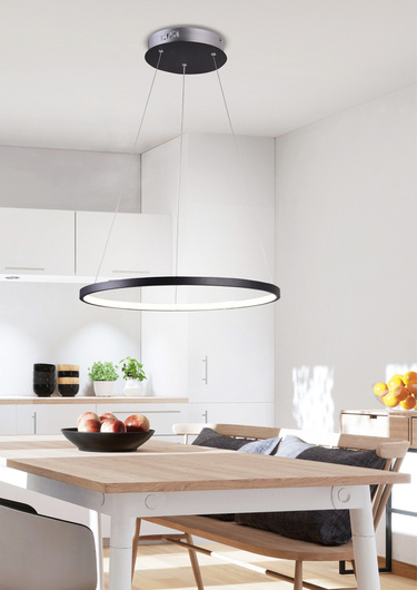 Lampa czarna LED ring wisząca okrągła 18W 4000K Lune Candellux 31-64653