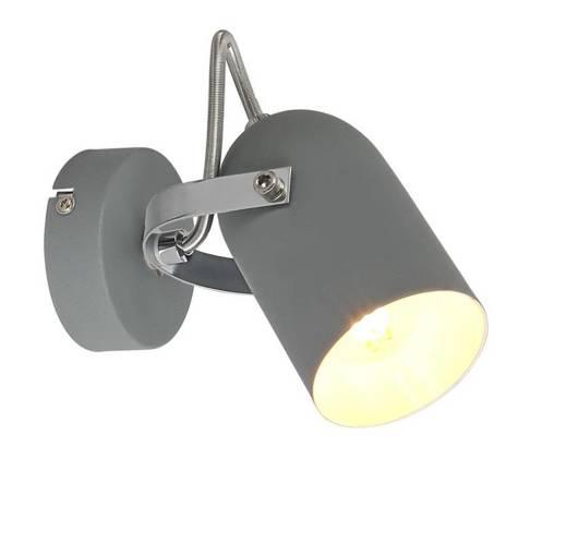 Lampa ścienna kinkiet 1X40W E14 szary GRAY 91-66473