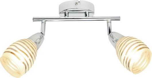 Lampa ścienna listwa 2X10W E14 LED chrom JUBILAT 92-55699