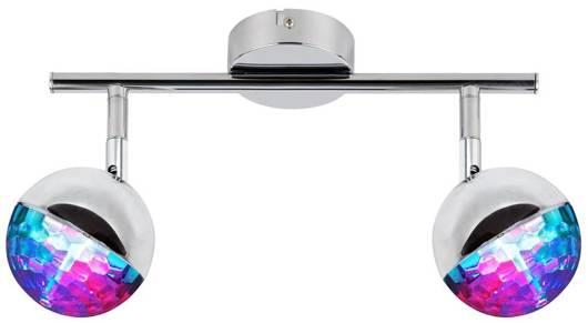 Lampa ścienna listwa 2X3W LED główka okrągła PARTY 92-67760