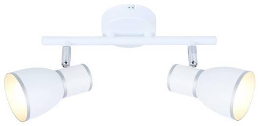 Lampa ścienna listwa 2X40W E14 biały/chrom FIDO 92-63373