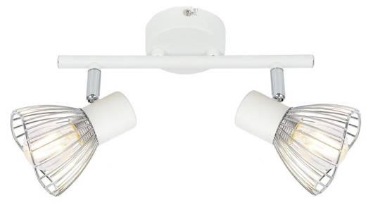 Lampa ścienna listwa 2X40W E14 biały chrom FLY 92-61966