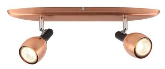 Lampa ścienna listwa 2X50W GU10 miedziany CROSS 92-32775