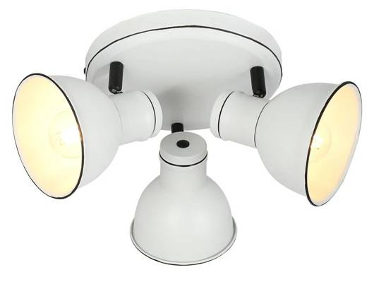 Lampa sufitowa biało-czarna regulowana plafon 3x40W Zumba Candellux 98-72160