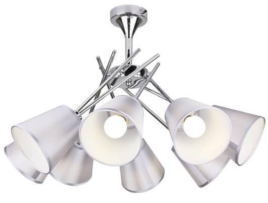 Lampa sufitowa chromowa abażur z tkaniny 8x40W Vox Candellux 38-70647