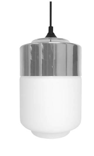 Lampa sufitowa wisząca 1X60W E27 biały/chrom MASALA 31-40541