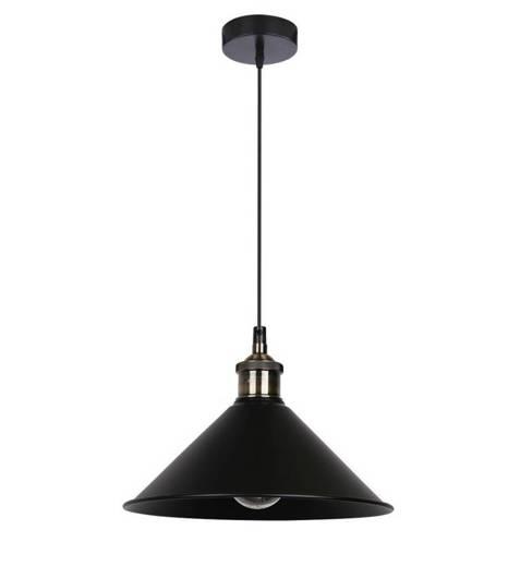Lampa sufitowa wisząca 1X60W E27 czarny VELO 31-56313