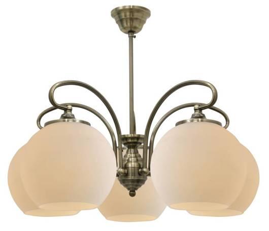 Lampa sufitowa wisząca 5X60W E27 patyna miedź ORBIT 35-69368