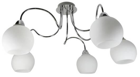 Lampa sufitowa wisząca chromowa 5x60W Nelda Candellux 35-72597