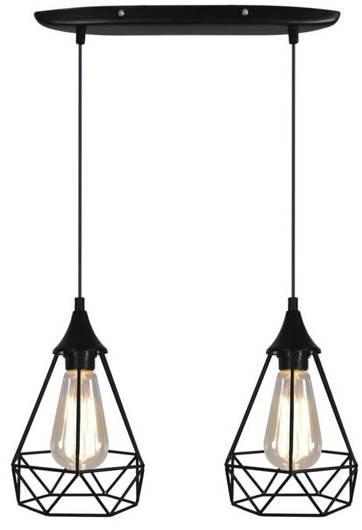 Lampa sufitowa wisząca czarna druciana 2x60W Graf Candellux 32-62895