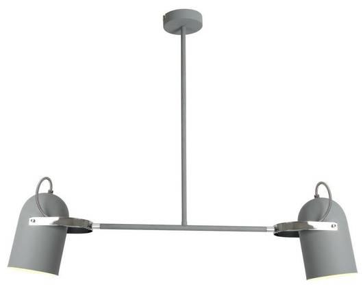 Lampa sufitowa wisząca szara 2X40W E27 GRAY 32-66510
