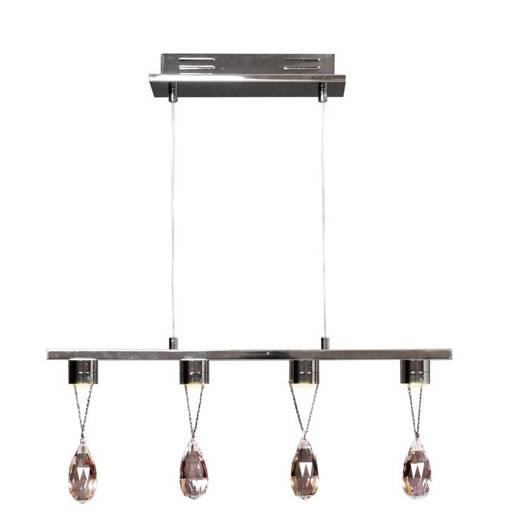 Lampa wisząca LED chromowa z kryształkami 4x3W Prisma Candellux 34-25708