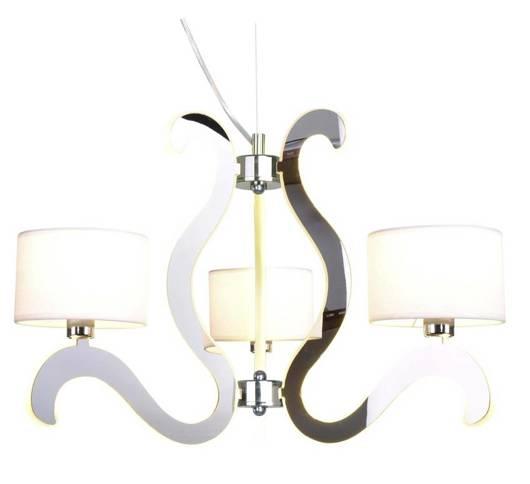 Lampa wisząca chromowa 3x40W + LED 18,4W żyrandol Ambrosia Candellux 33-33895