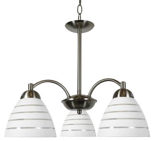 Lampa wisząca satynowa 3x60W szklane klosze Uli Candellux 33-66152