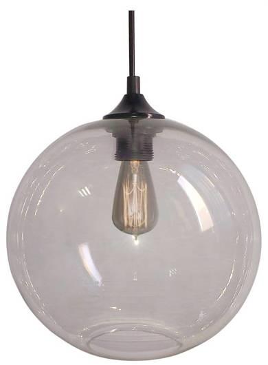 Lampa wisząca szklana kula transparentna + żarówka Edison 31-21403