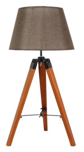 Lampka gabinetowa stołowa brązowa 60W E27 Lugano 41-31211