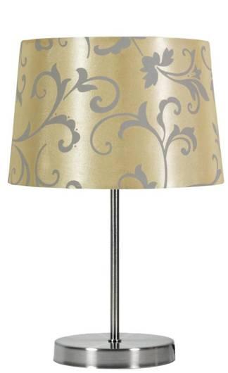 Lampka stołowa beżowa/chrom Arosa 41-55859