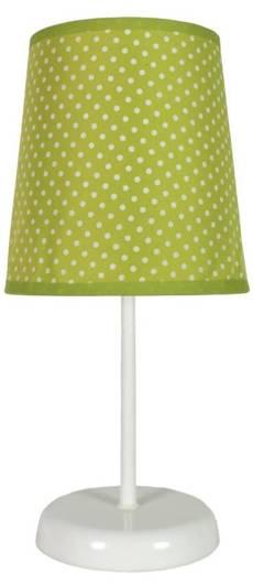 Lampka stołowa nocna zielona w kropki Gala 41-98262